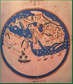 World Map Idrisi, XII century                                                                                                                                                                                 Mais