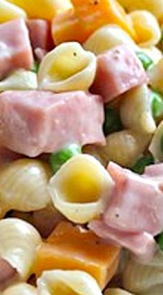 Ham and Shell Pasta Salad ❊