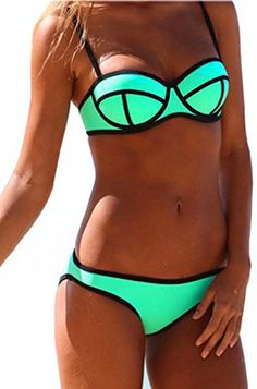 Imilan Sexy Neoprene Diving Suit Push up Bikini Set Swimsuits for Women. $6.98