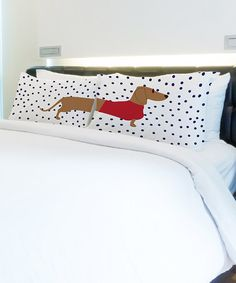 Loving this Dachshund Dots Pillowcase - Set of Two on #zulily! #zulilyfinds