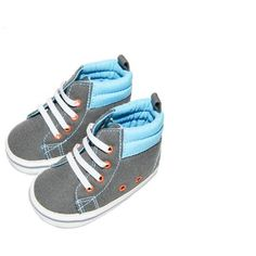 Child of Mine by Carter's Newborn Baby Boy Bumper Hightop Sneakers - Walmart.com