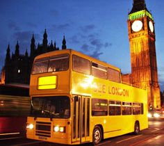 See London by Night - tour the city highlights in a double decker bus  #sunorsincity