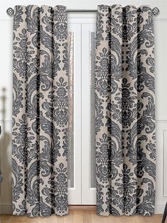 Montague Pewter Curtains from Curtains 2go approx £350 per pair