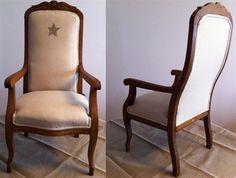 fauteuil de style louis xv tissu couleur lin beige et bois. Black Bedroom Furniture Sets. Home Design Ideas