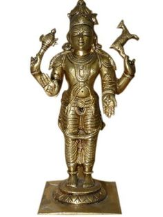 Lord Vishnu Statue Hindu Spiritual Art Brass Sculpture for the Home 8 Inch by Mogul Interior, http://www.amazon.com/dp/B00CJ3Q140/ref=cm_sw_r_pi_dp_.3.Trb1BKKPDW