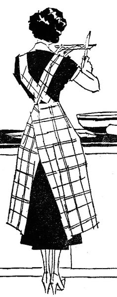 The seemed stockings add so much to this charming vintage illustration. #homemaker #cooking #vintage