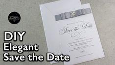 Easy Elegant Save the Date Invitation  | Wedding Invitations DIY | Etern...