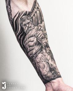 Realistic Hercules Temple Tattoo - Jannes de Groot Tattoo Temple Tattoo, Hercules, Photo And Video, Tattoos, Instagram, Tatuajes, Tattoo, Tattos, Tattoo Designs