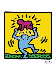 Keith Haring Untitled 1987 Baby over Head Art Print Poster - Art Poster Print by Keith Haring, Jm Basquiat, Banksy, Keith Allen, Pittsburgh, Keith Haring Art, Art Moderne, Poster Prints, Art Prints, Graffiti Art