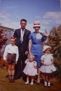 Not my family, there was more of us,,but we did dress this way when we went to church.  It was a rule, you had to wear a hat!