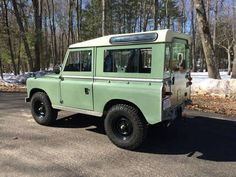 This 1967 Land Rover 88 Series IIA wears a two year, 3,000 mile-old restoration and still looks really nice inside and out. Stripped back to the frame, work included rust repair as well as fitment of many re-galvanized parts and a Fairey overdrive. Sills are custom galvanized items, and NATO-style,