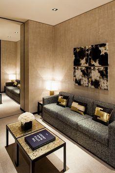 Lovely ivory living room.