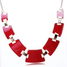 Red Statement Necklace (755 RUB) ❤ liked on Polyvore featuring jewelry, necklaces, statement necklace, red jewellery, red necklace, red jewelry and red statement necklace