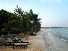 Lake Victoria Entebbe Uganda. There is a pizza place on the shore was a lovely place to sit and eat.