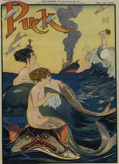 "vintage ""An old acquaintance"" Gordon Ross Illustration for Puck Magazine c.1911."