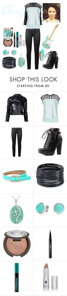 """More than a Band: Amy"" by keih95 ❤ liked on Polyvore featuring R13, Karl Lagerfeld, Paige Denim, Charlotte Russe, ABS by Allen Schwartz, Miadora, Bling Jewelry, Becca, Kat Von D and Urban Decay"