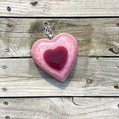 Double Heart Petal Suncatcher personalized with your flower petals