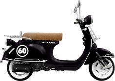 Le scooter rétro est décliné en 50 et 125cm3, aux prix de 1490 et 1590€