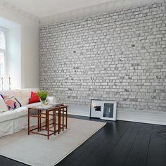 Painéis Fotográficos - Surfaces - Painel Fotográfico Brick Wall, White