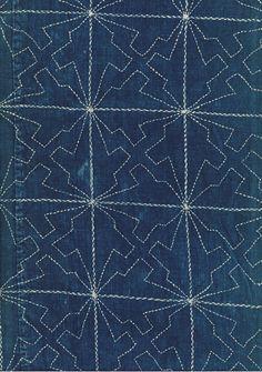 detail of Late Meiji Furoshiki, Late Meiji (1880-1911). Yorke Antique Textiles Sashiko