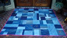 This is the cutest recycled jean quilt!!!