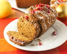 Gingerbread Loaf with Lemon Glaze
