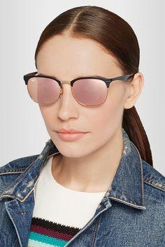 Ray-Ban | Clubmaster metal mirrored sunglasses | NET-A-PORTER.COM