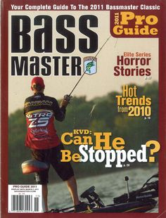 Rugged Shark was featured in the Bass Master 2011 Pro Guide