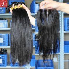 Filipino Virgin Hair 3 Bundles With Closure For Cheap Top Grade Unprocessed Virgin Hair