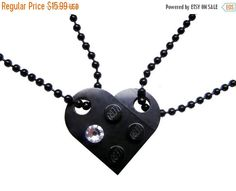 ON SALE Black 2 piece customizable heart made by MademoiselleAlma #MademoiselleAlma #LEGO #ETSY