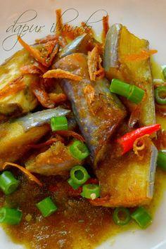dapur ibundo: Terung bilis goreng pedas Filipino Recipes, Asian Recipes, Ethnic Recipes, Vegetable Salad, Vegetable Side Dishes, Indonesian Cuisine, Indonesian Recipes, Nyonya Food, Malaysian Cuisine