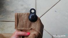 DIY Outdoor Curtains: Attach the grommet