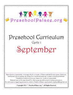 Preschool Palace Home for Free PK Curriculum, Printables, etc