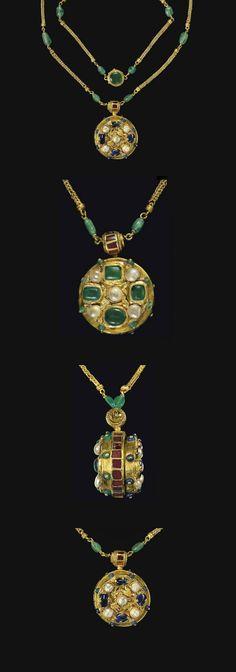 Byzantine Gold, Sapphire, Emerald, Garnet & Pearl Pendant c - Century AD Byzantine Gold, Byzantine Jewelry, Renaissance Jewelry, Medieval Jewelry, Ancient Jewelry, Antique Jewelry, Vintage Jewelry, Viking Jewelry, Bridal Jewelry