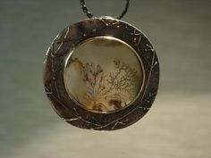 Regina Imbsweiler - Necklace, sterling silver, 22k gold, Chinese dentritic agate