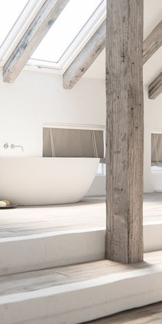 Piet Boon design badkamer kranen bycocoon.com  | Piet Boon® by COCOON design bathroom faucets in inox brushed stainless steel | bathware | COCOON freestanding bathtub | bathroom design | minimalist bathroom | wellness design | spacious loft bathroom | Dutch Designer Brand COCOON