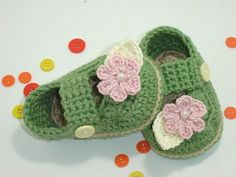 Too cute, Mary Jane Crochet Baby Booties Shoes