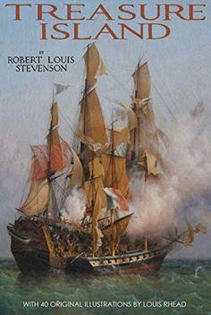 Treasure Island  (with 40 original illustrations by Louis Rhead) by Robert Louis Stevenson et al., http://www.amazon.co.uk/dp/B0150DI6UM/ref=cm_sw_r_pi_dp_rD67vb1F84CY7