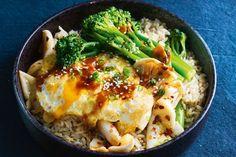 Speedy miso rice bowl