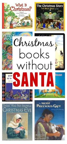 Christmas books for kids without Santa - great for my church run preschool class.