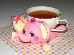 Coasters for drinks Pink Little elephant Stand for the cup Cup Stands Cup pad Kitchen's decoration Stand cup Cup coaster Quilling art