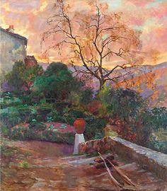 Joaquín Sorolla - Garden of Spanish Farmhouse, 1909.