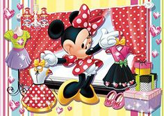mickey and minnie sarang puzzle | Puzzles Educatif Puzzle 104 pièces Minnie Shopping Bag
