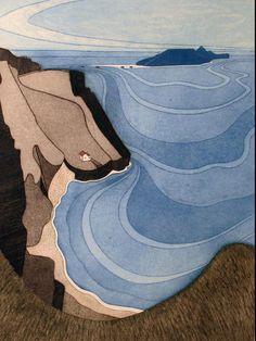 yama-bato: John Brunsdon (British, born 'Bale Oaks' via Art Et Illustration, Illustrations, Landscape Art, Landscape Paintings, Lynda Barry, A Level Art, Inspiration Art, All Nature, Art Design