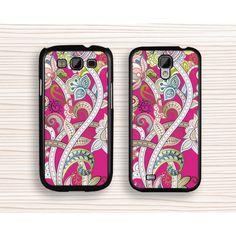 Samsung cover,pink flower samsung Note 2 case,mandala flower samsung Note 3 case,art flower samsung Note 4 case,floral Galaxy S5 case,vivid flower Galaxy S4 case,art flower Galaxy S3 case - Samsung Case