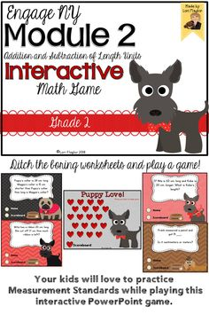 This Interactive Powerpoint Math game is a perfect way to review measurement concepts taught in Grade 2.
