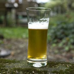 Basic Beer glass in a perfect setting. Let's get the BBQ fired up for summer.