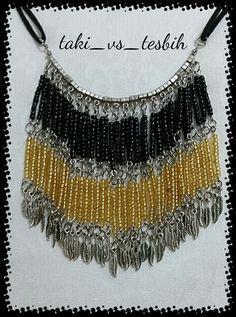 elişi boncuk  kolye,gerdanlık handmade necklace  made of beads.....