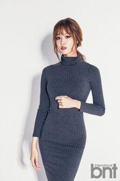 "Ji Eun Models for ""International bnt"" and Selects Lee Kwang Soo As Her Ideal Man   Koogle TV"