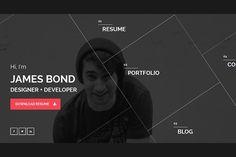 Hello - Resume/Portfolio Template by LionCoders on @creativemarket